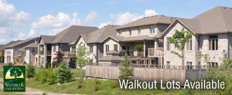 Walkout Lots in Westbrook Meadows
